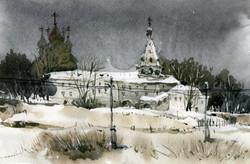 Храмы 76 (Акварель/Watercolor)