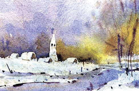 Храмы 15 (Акварель/Watercolor)