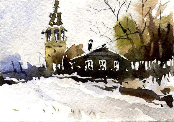 Храмы 5 (Акварель/Watercolor)