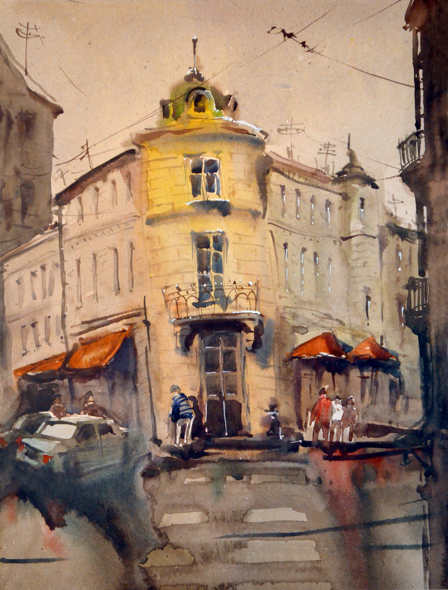 Город 12 (Акварель/Watercolor)