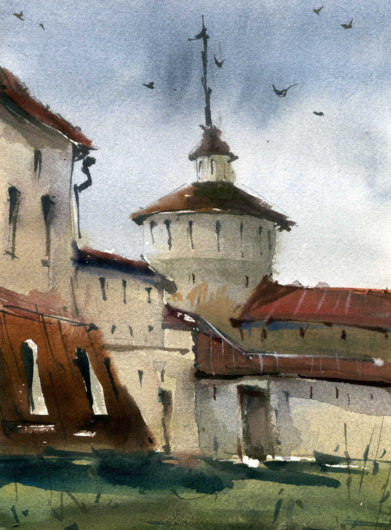 Храмы 26 (Акварель/Watercolor)