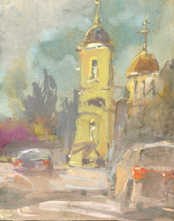 Храмы 14 (Акварель/Watercolor)