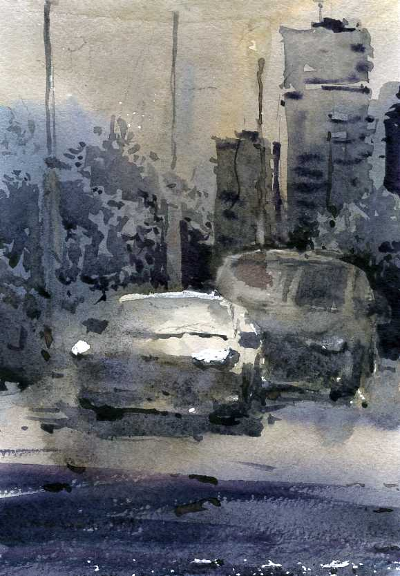 Город 25 (Акварель/Watercolor)