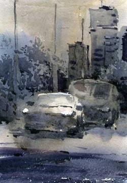 Город 25 (Акварель/Watercolor)