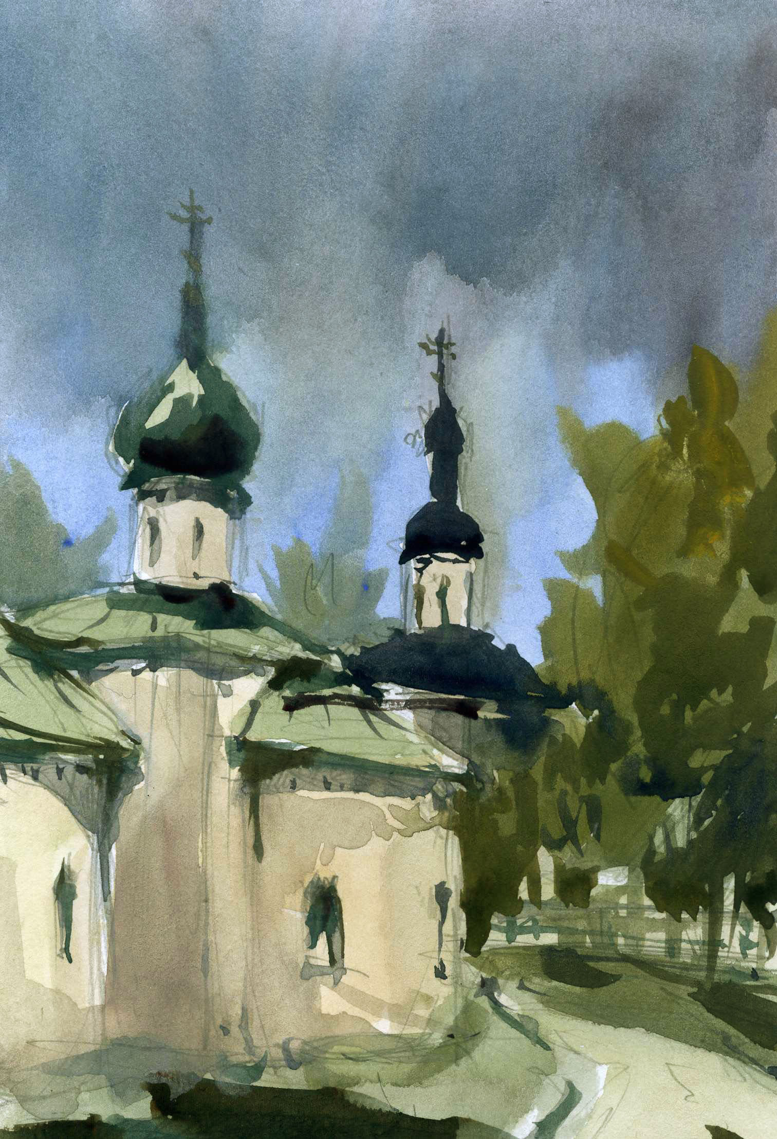 Храмы 29 (Акварель/Watercolor)