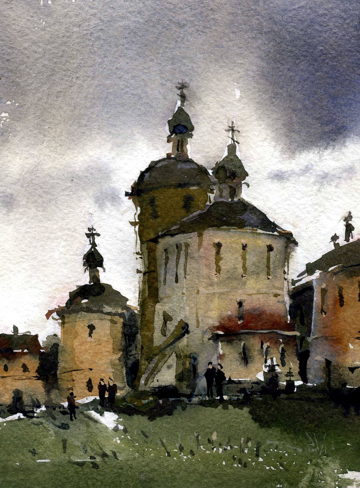 Храмы 2 (Акварель/Watercolor)