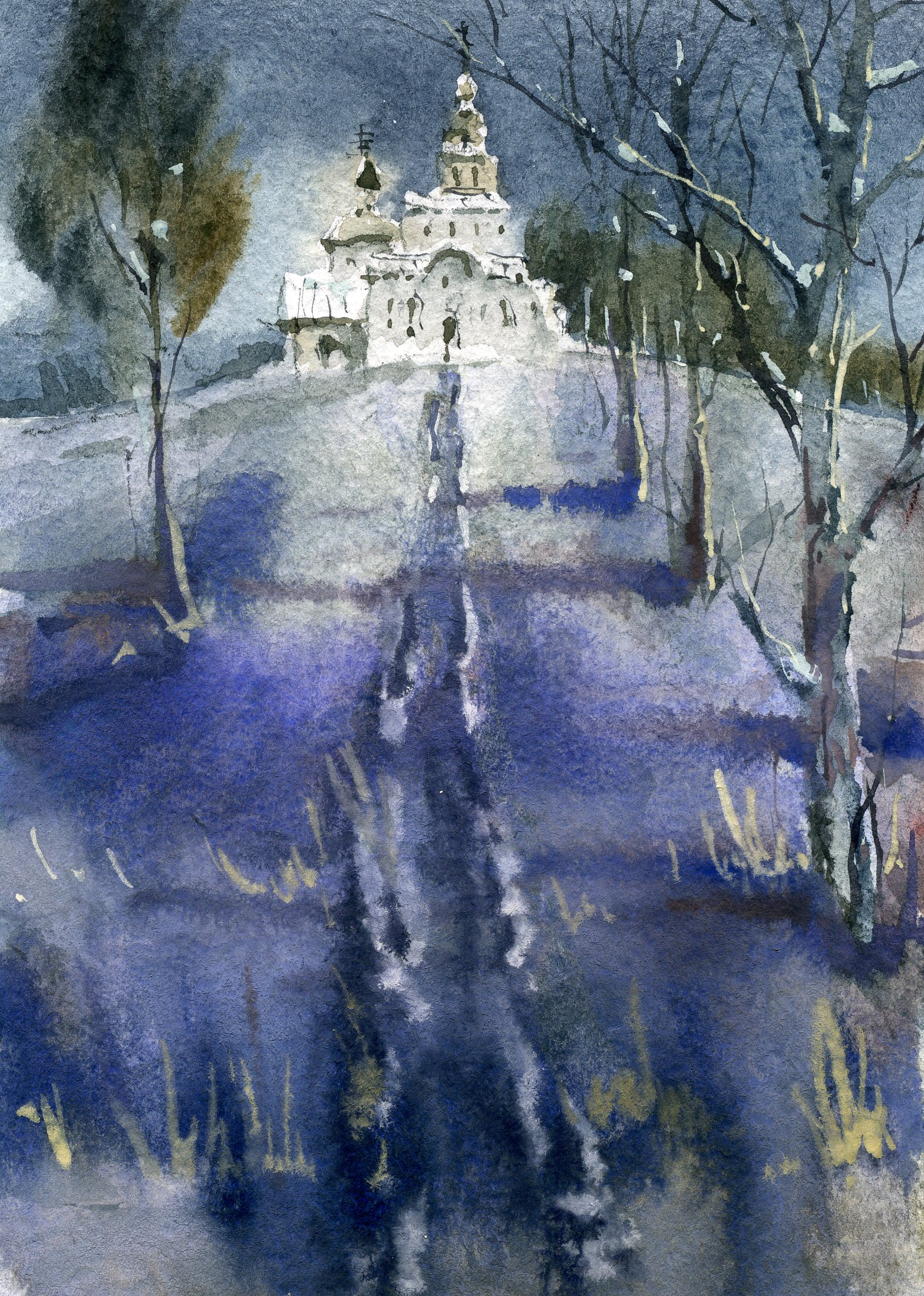 Храмы 73 (Акварель/Watercolor)
