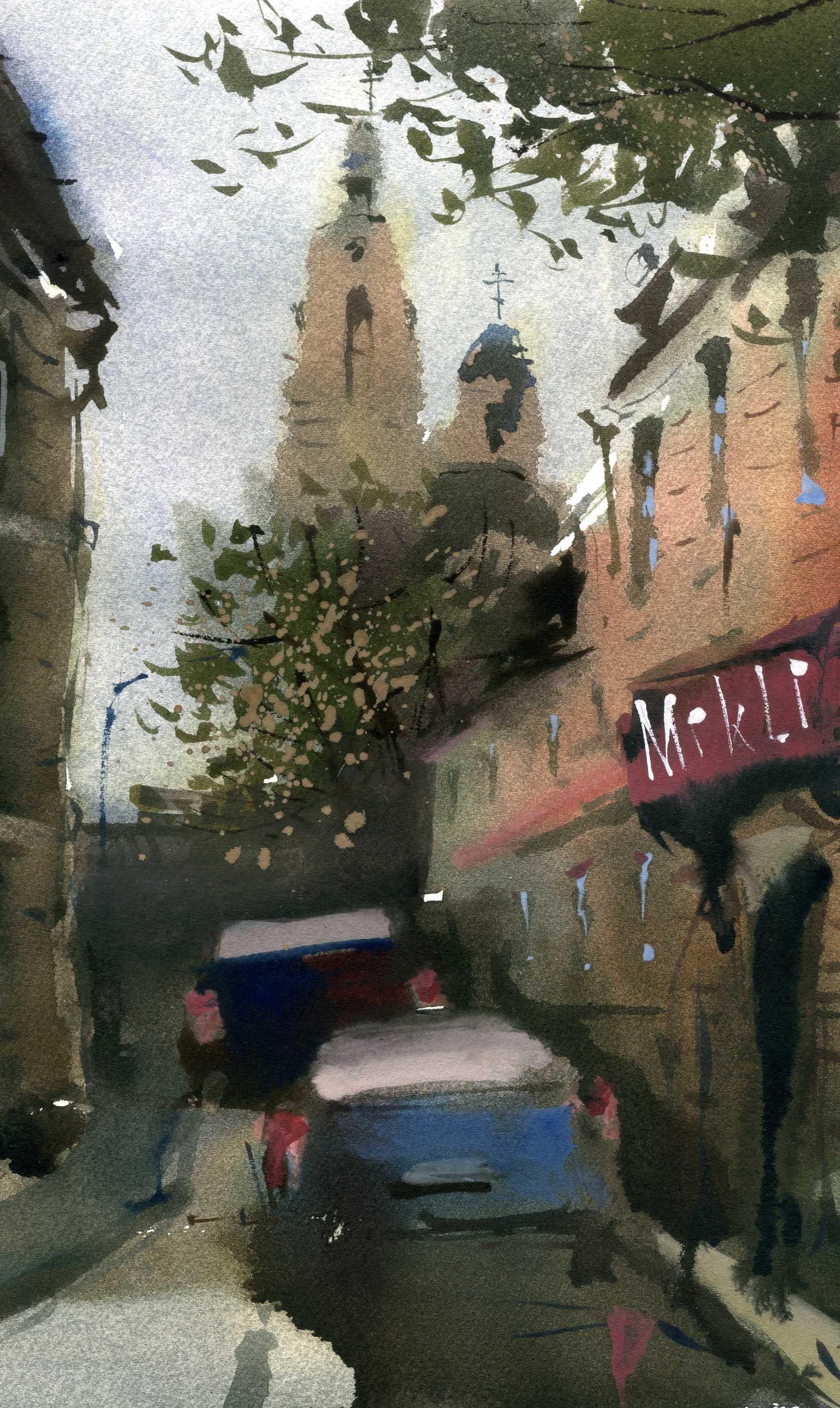 Город 3 (Акварель/Watercolor)