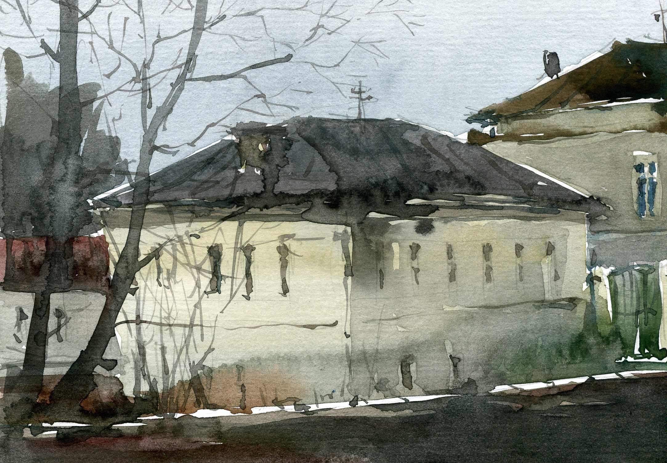 Город 35 (Акварель/Watercolor)