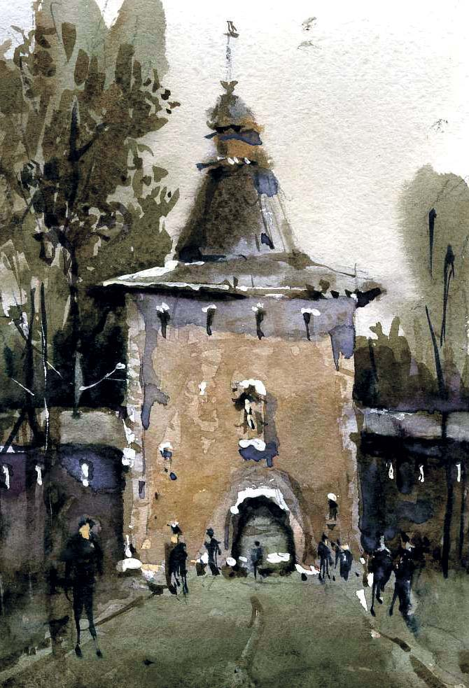 Храмы 10 (Акварель/Watercolor)