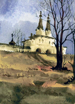 Храмы 36 (Акварель/Watercolor)