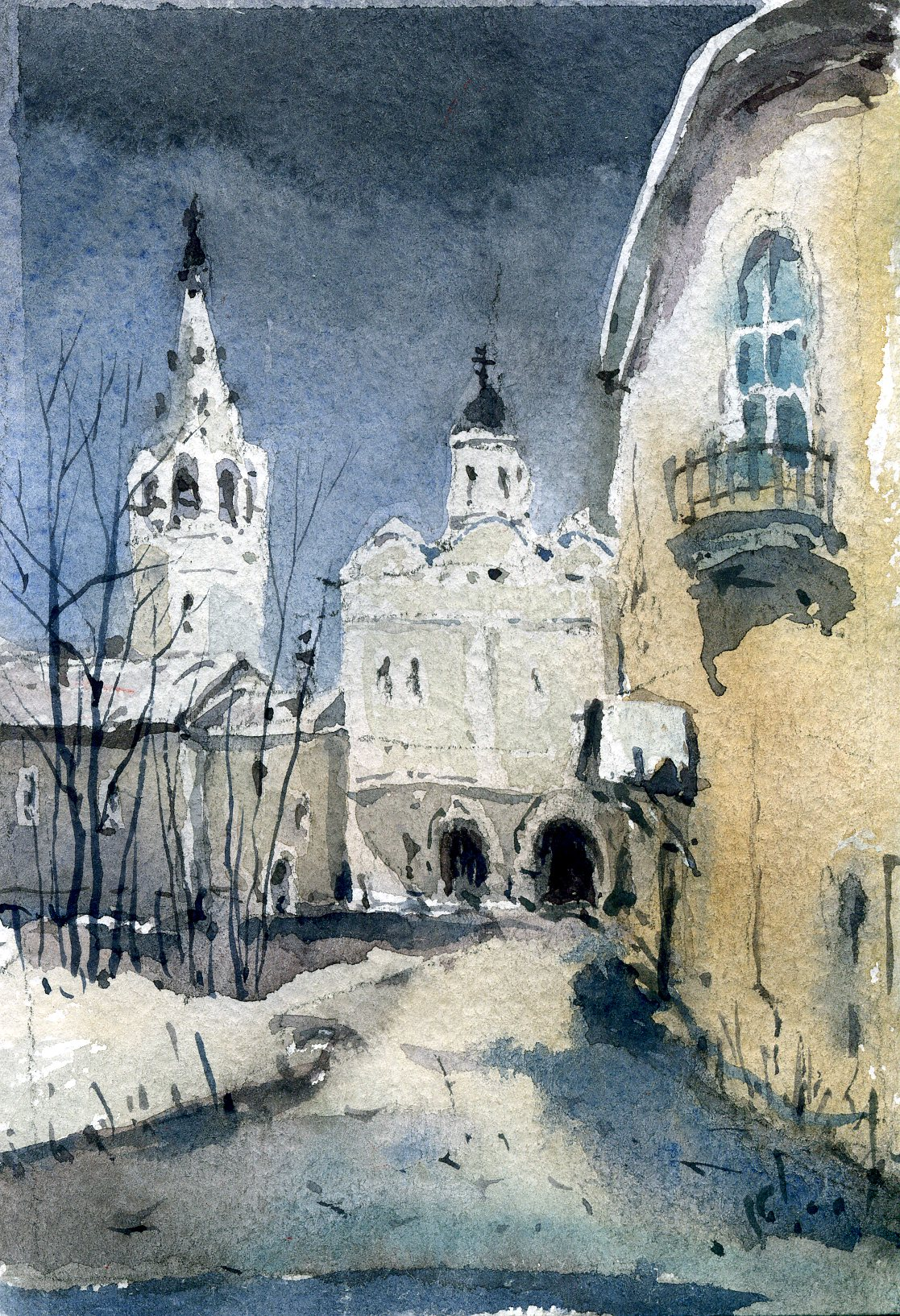 Храмы 62 (Акварель/Watercolor)