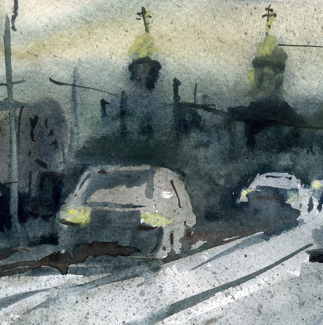 Город 34 (Акварель/Watercolor)