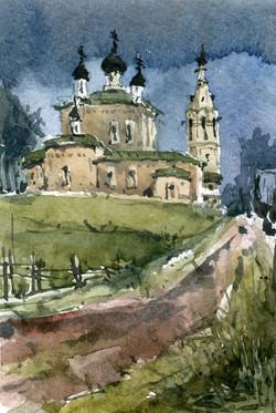 Храмы 58 (Акварель/Watercolor)