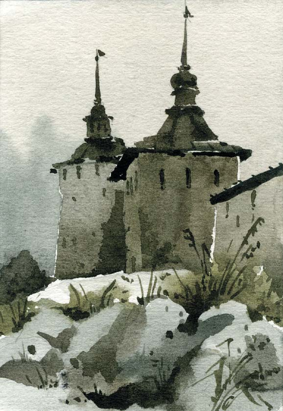 Храмы 40 (Акварель/Watercolor)