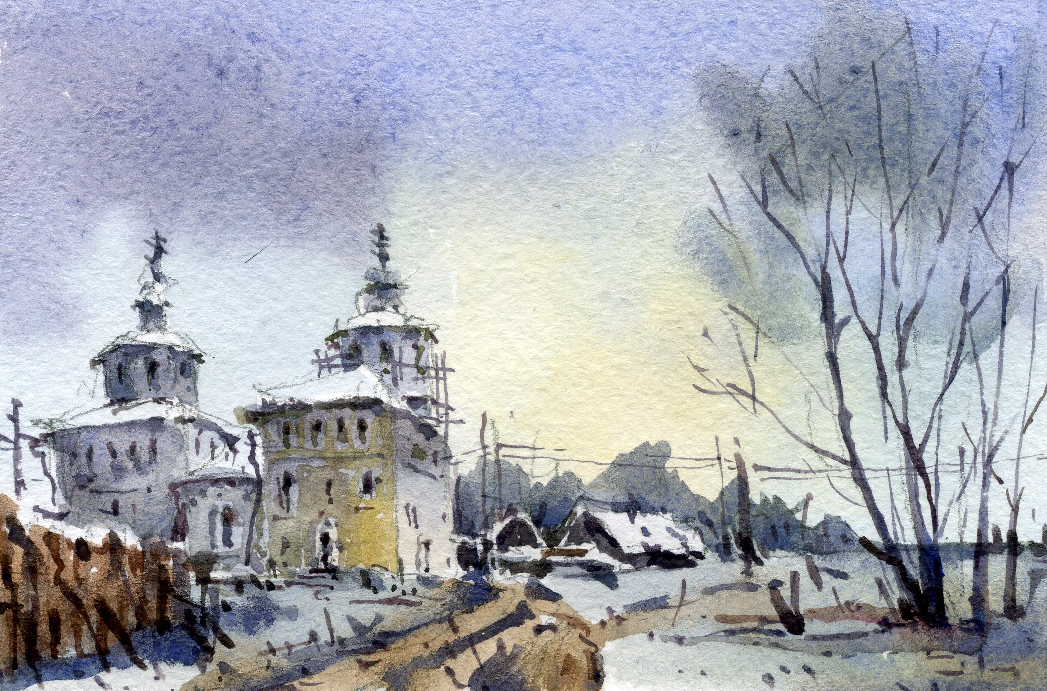 Храмы 54 (Акварель/Watercolor)