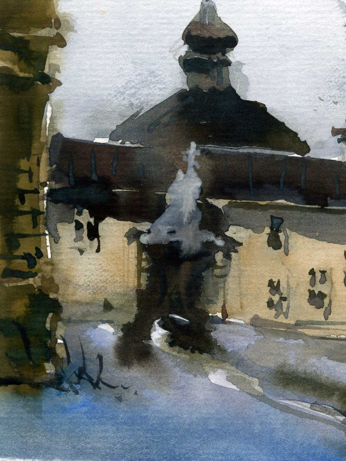 Храмы 12 (Акварель/Watercolor)