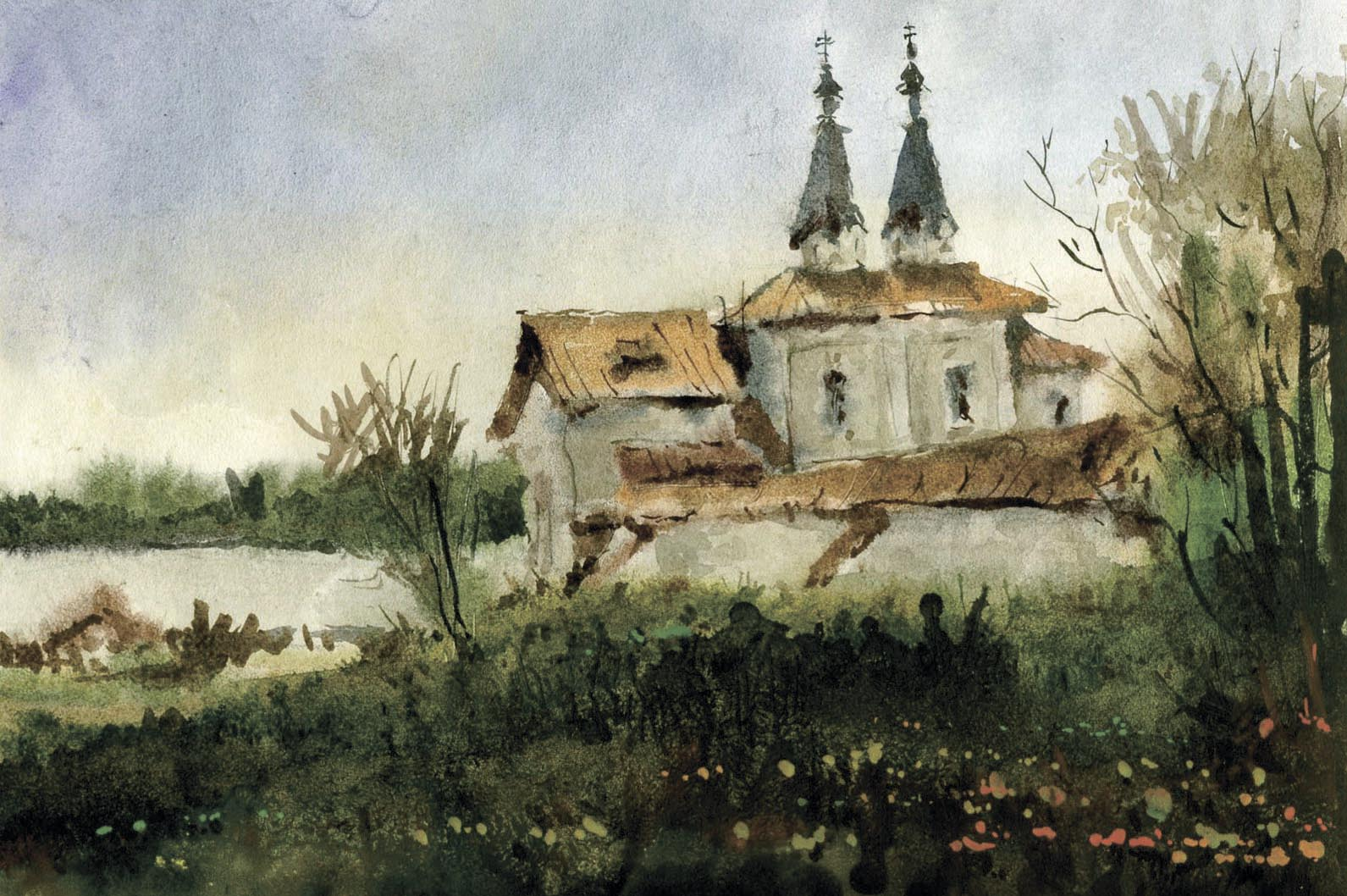 Храмы 71 (Акварель/Watercolor)