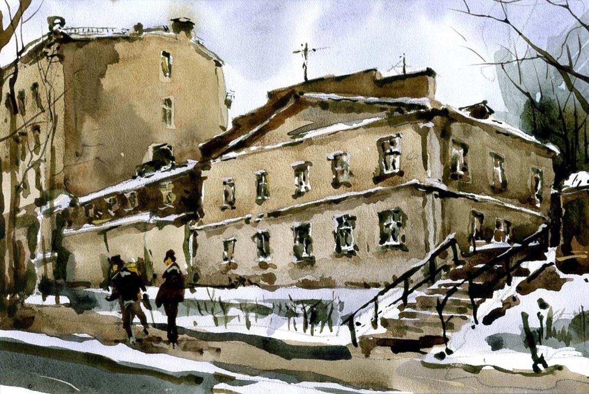 Город 5 (Акварель/Watercolor)