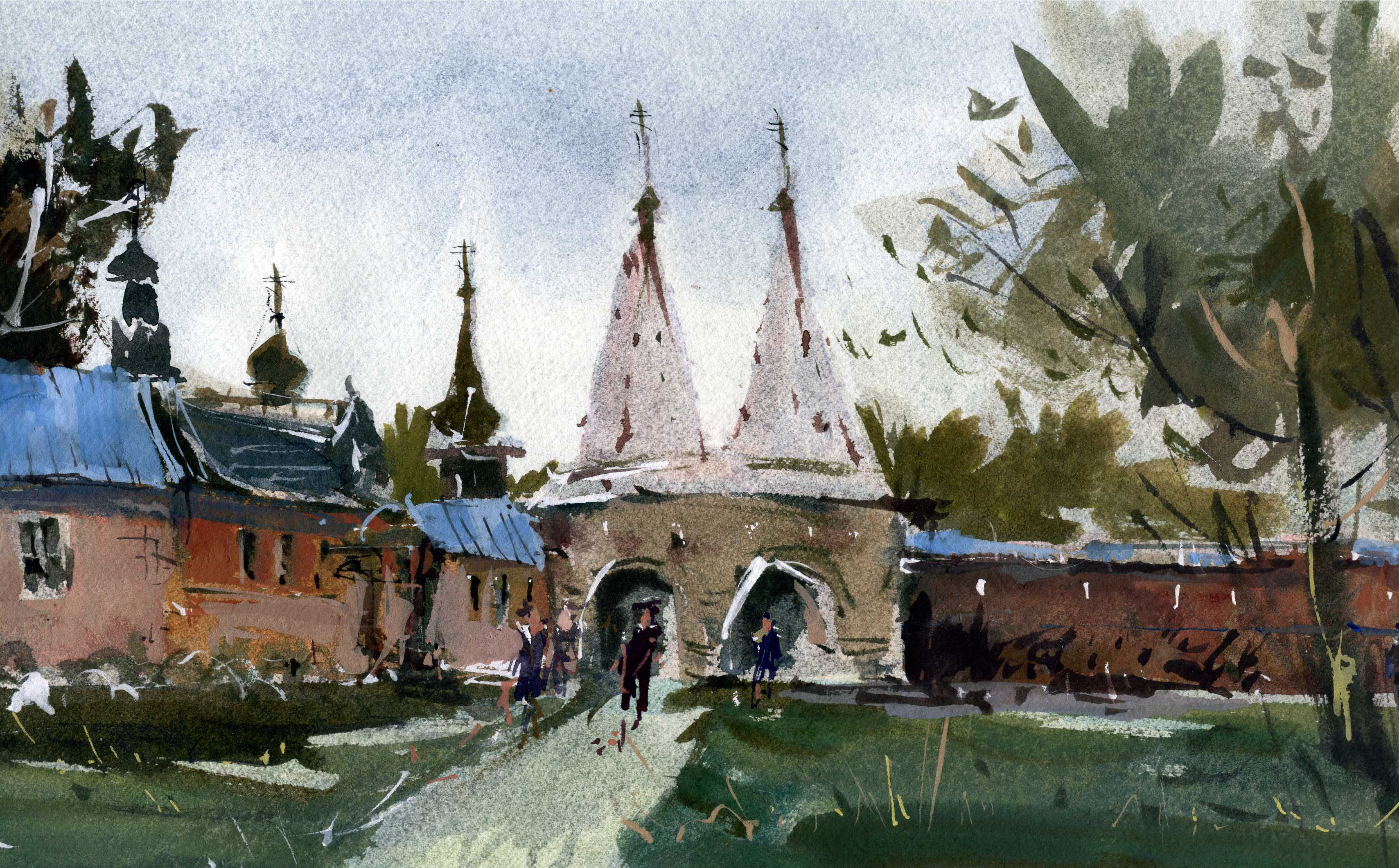 Храмы 25 (Акварель/Watercolor)