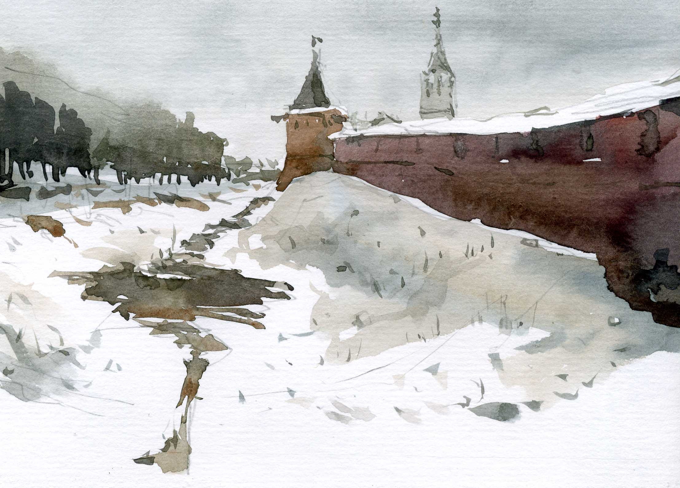 Храмы 19 (Акварель/Watercolor)