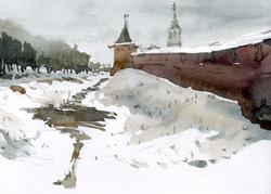 Храмы 19 (Акварель/Watercolor)