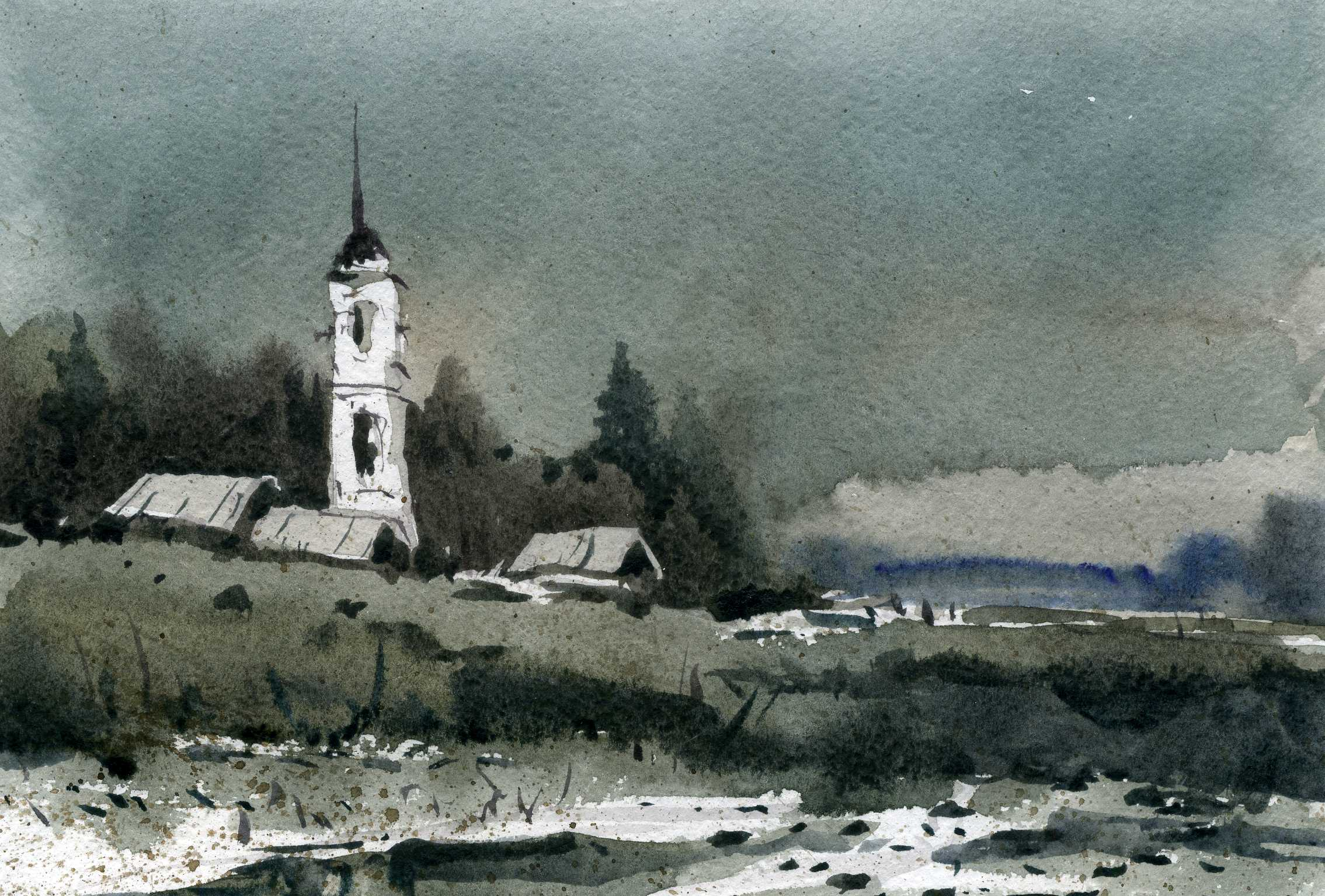 Храмы 49 (Акварель/Watercolor)