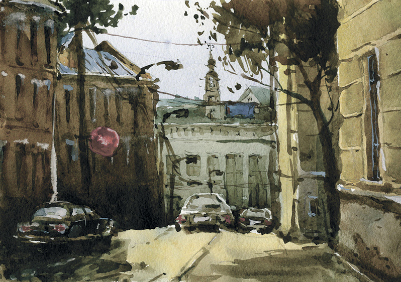 Город 10 (Акварель/Watercolor)