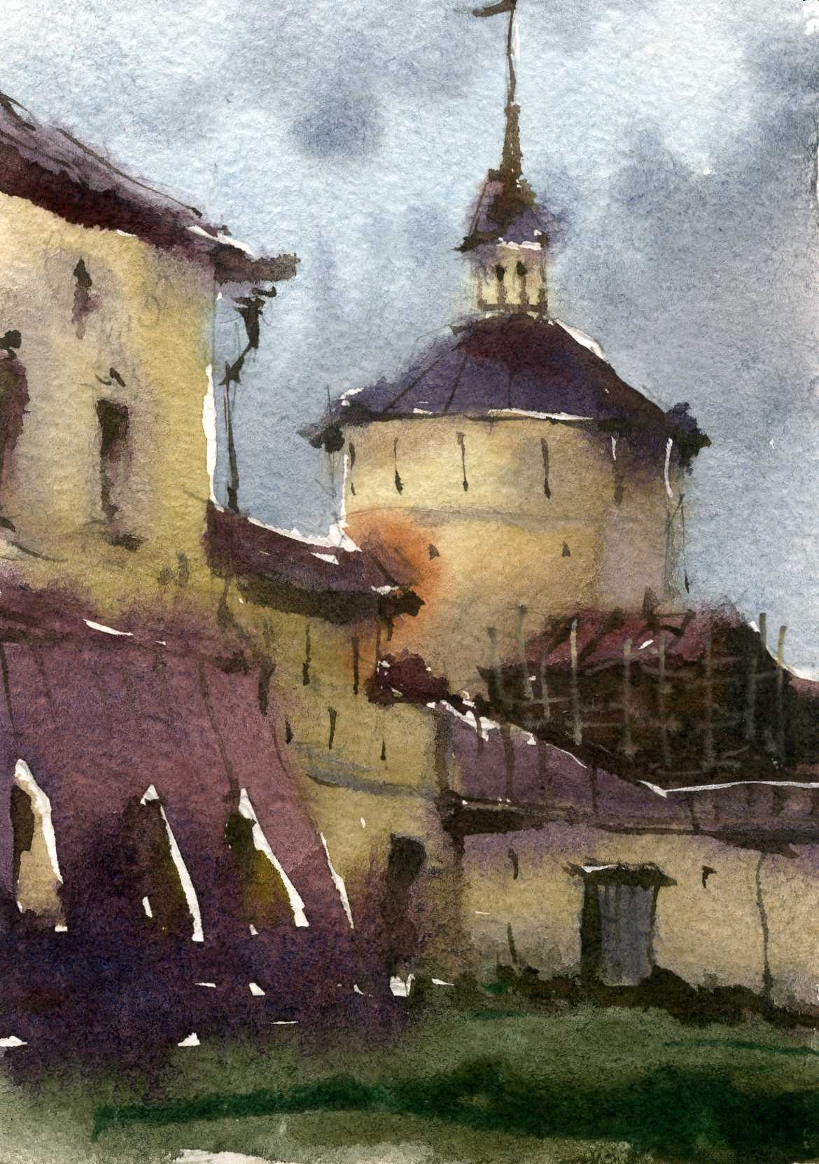 Храмы 28 (Акварель/Watercolor)