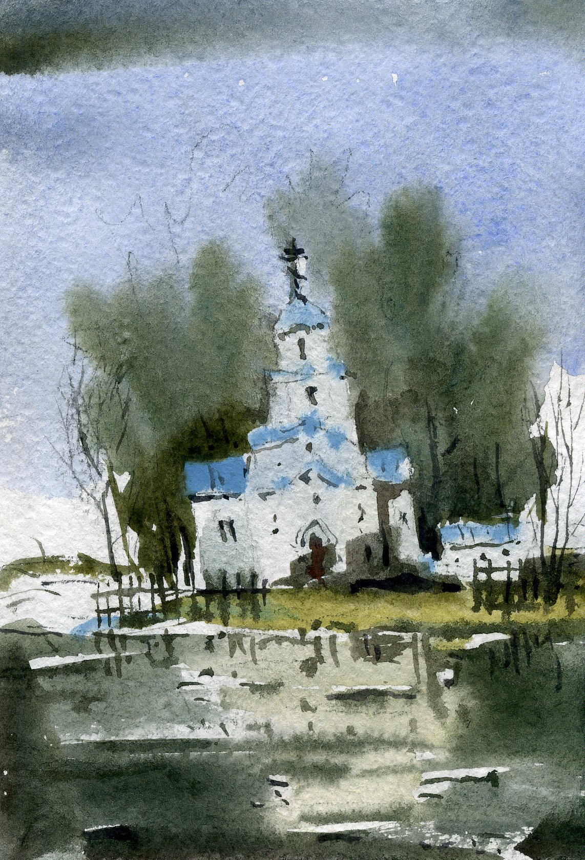 Храмы 61 (Акварель/Watercolor)
