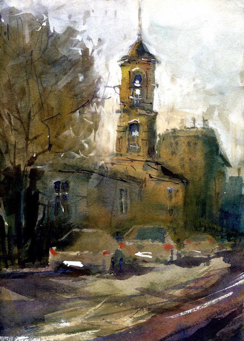 Город 2 (Акварель/Watercolor)