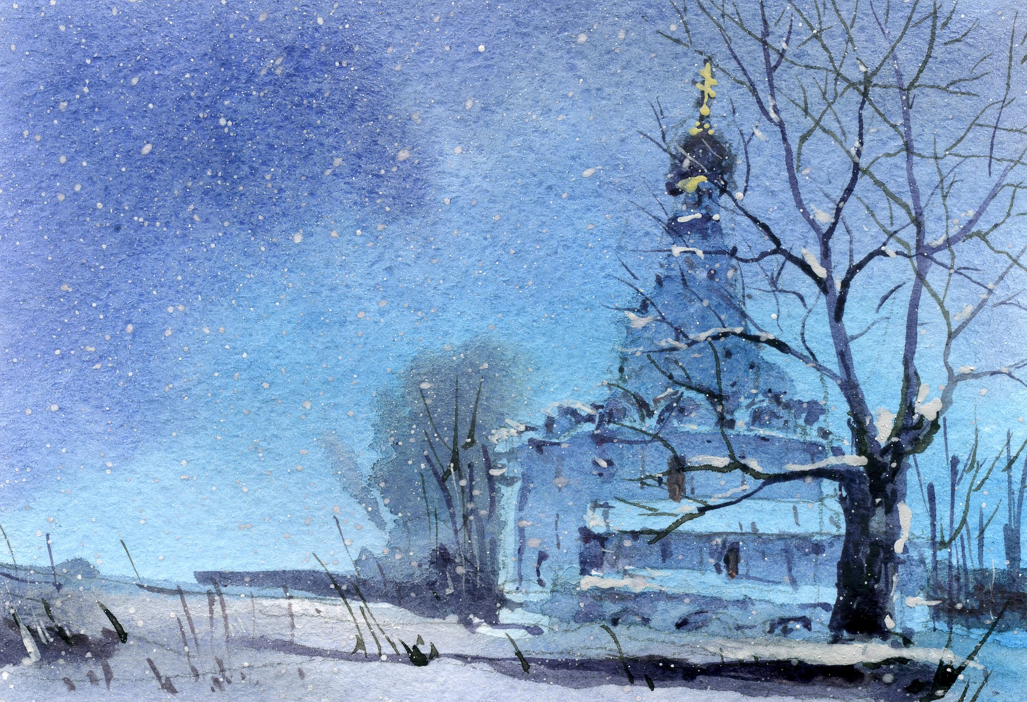 Храмы 53 (Акварель/Watercolor)