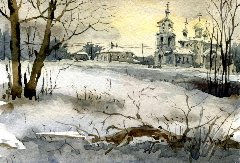 Храмы 41 (Акварель/Watercolor)