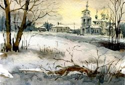 Храмы 41 (Акварель/Watercolor)