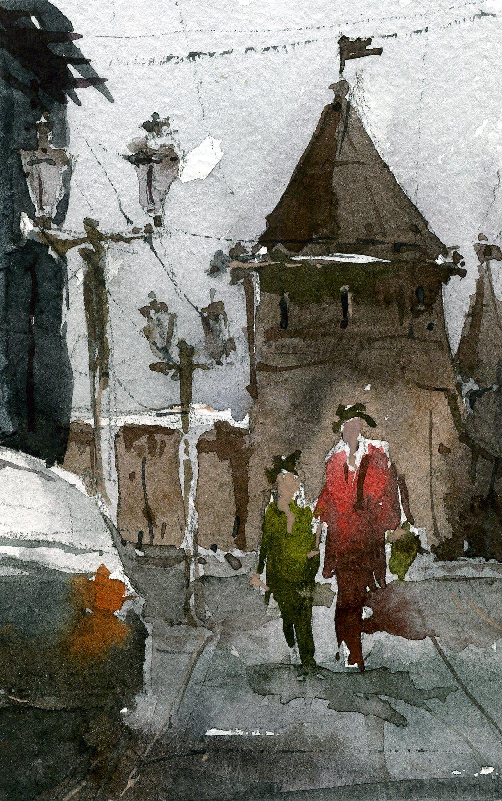 Город 16 (Акварель/Watercolor)