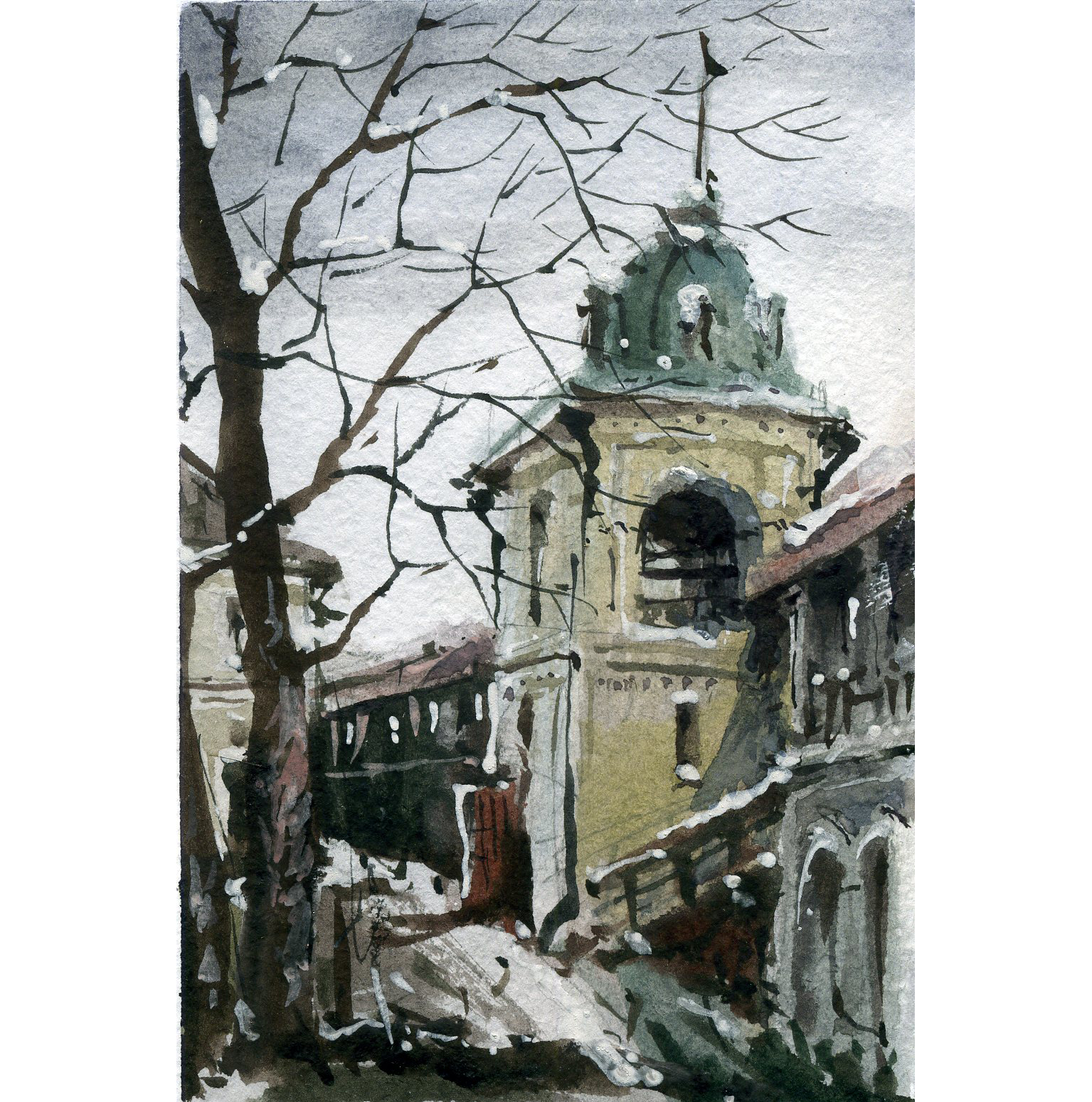 Храмы 60 (Акварель/Watercolor)