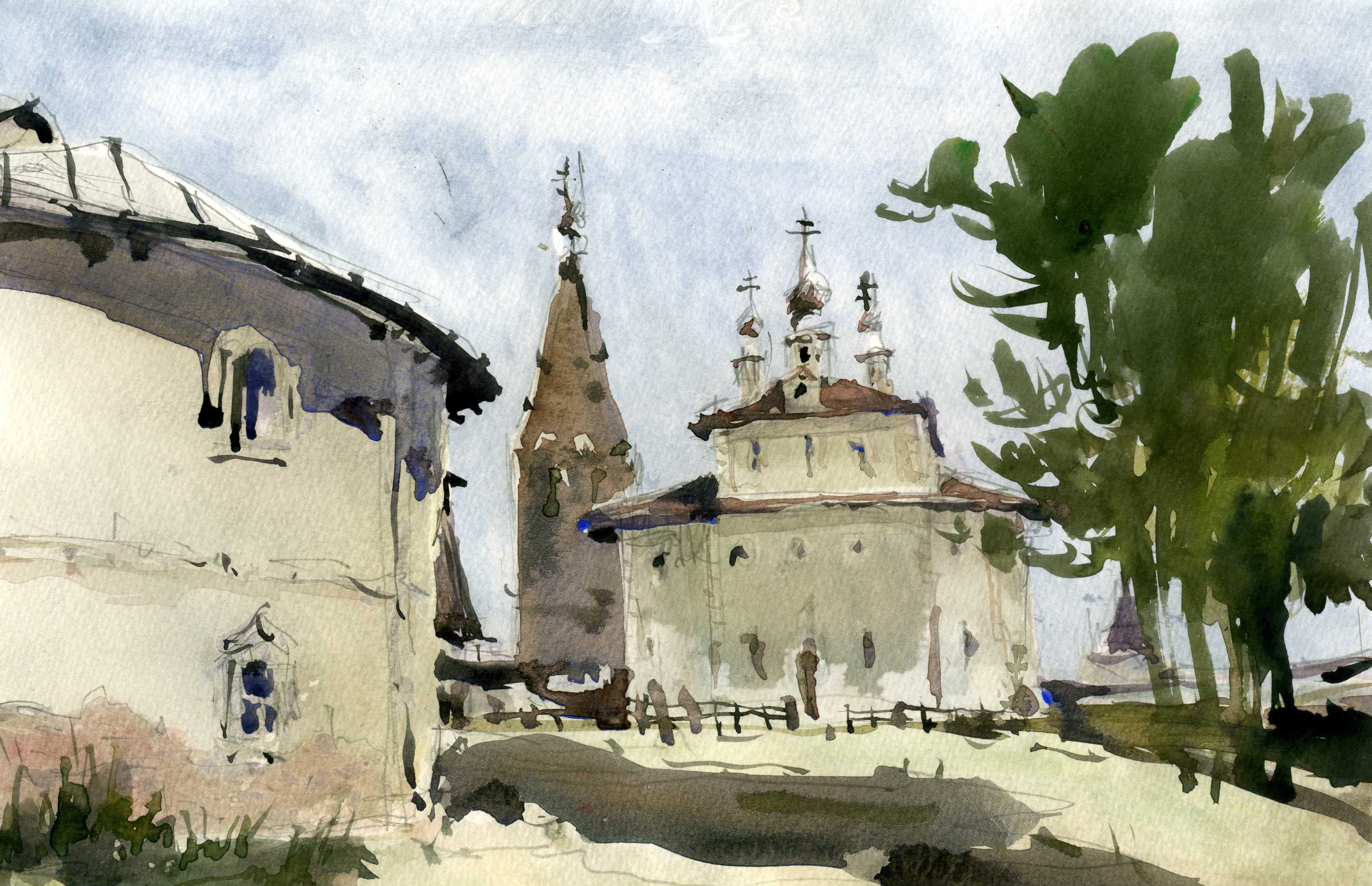 Храмы 22 (Акварель/Watercolor)