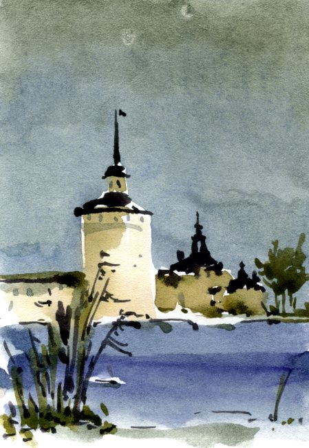 Храмы 51 (Акварель/Watercolor)