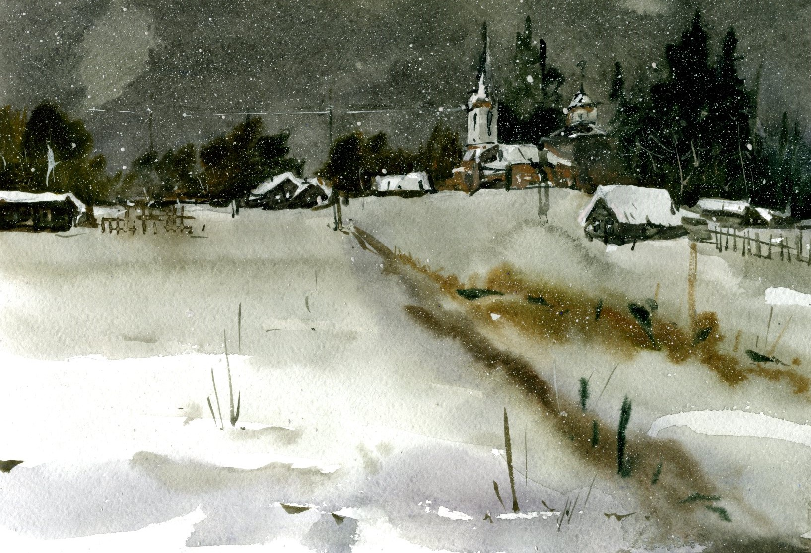 Храмы 52 (Акварель/Watercolor)