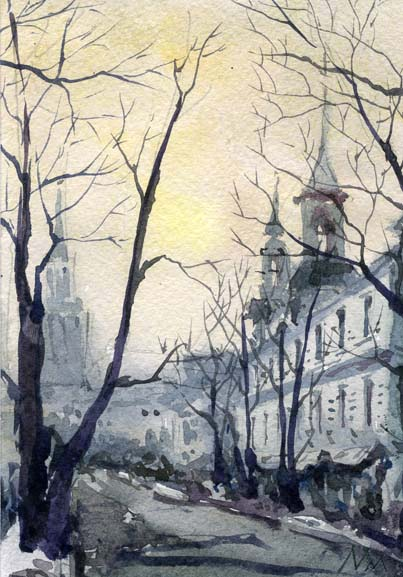 Город 27 (Акварель/Watercolor)