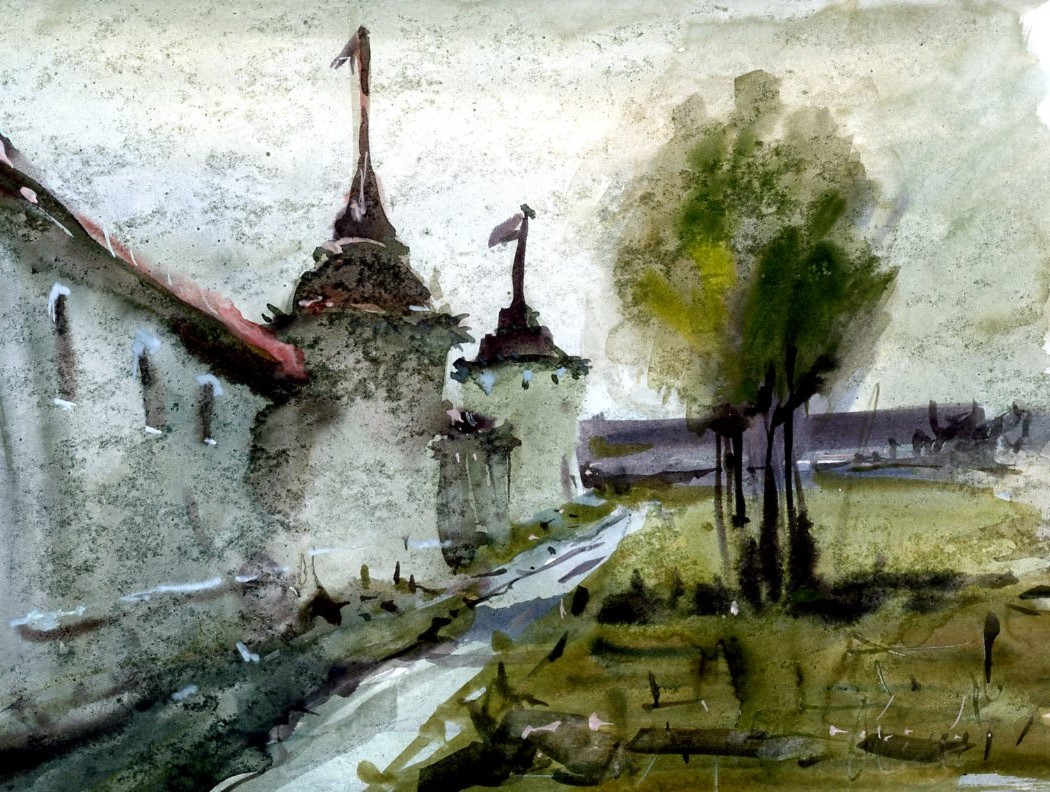 Храмы 1 (Акварель/Watercolor)
