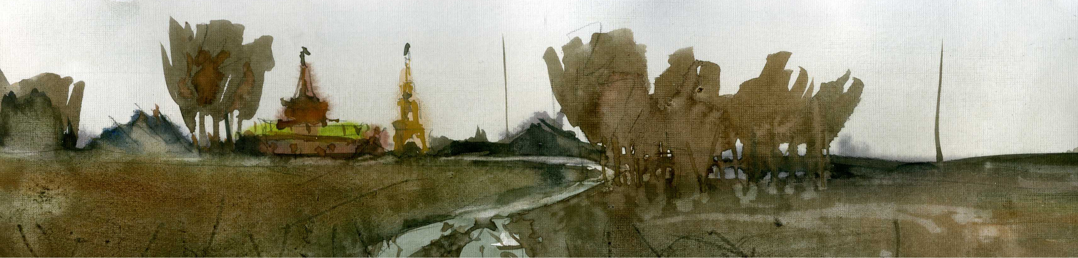 Храмы 24 (Акварель/Watercolor)