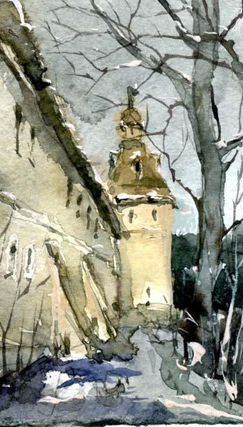 Храмы 38 (Акварель/Watercolor)