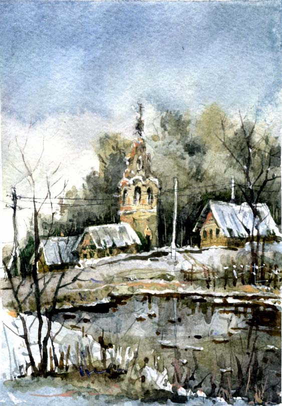 Храмы 45 (Акварель/Watercolor)