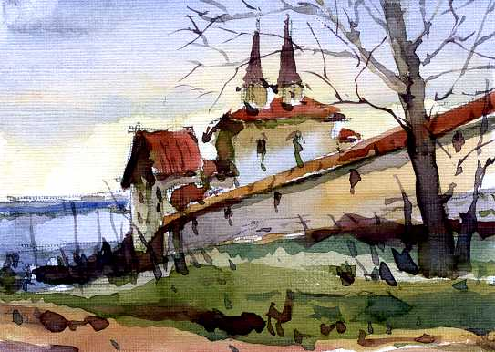 Храмы 6 (Акварель/Watercolor)