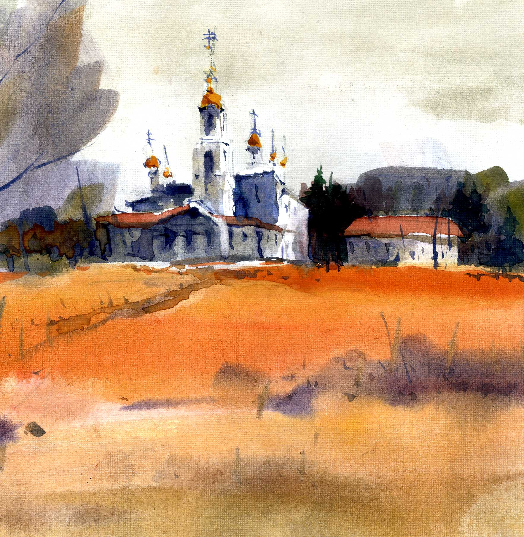 Храмы 3 (Акварель/Watercolor)