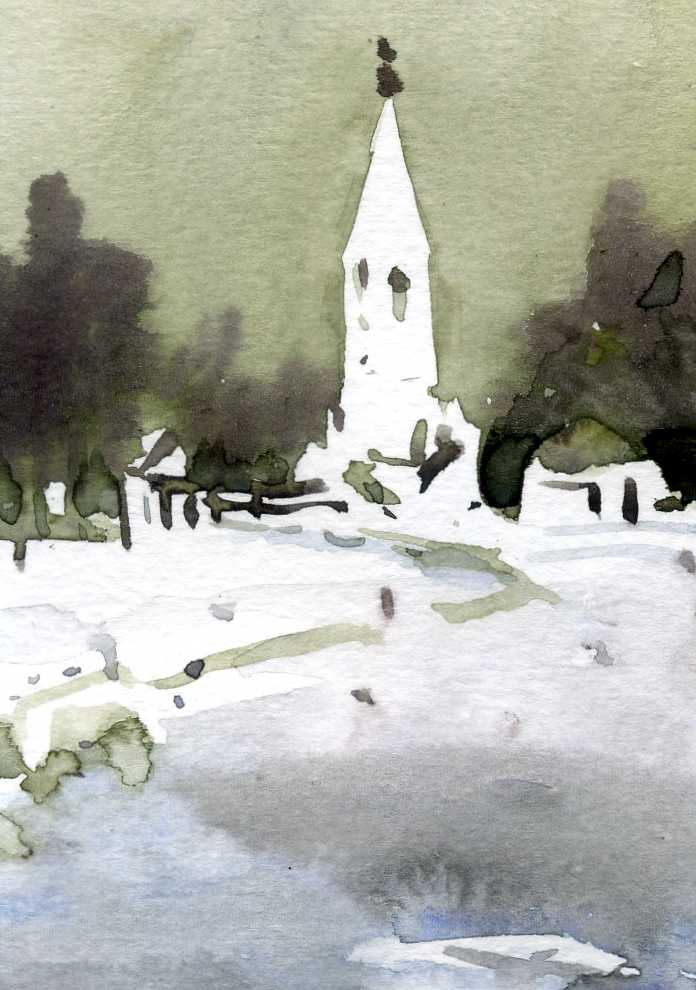 Храмы 23 (Акварель/Watercolor)