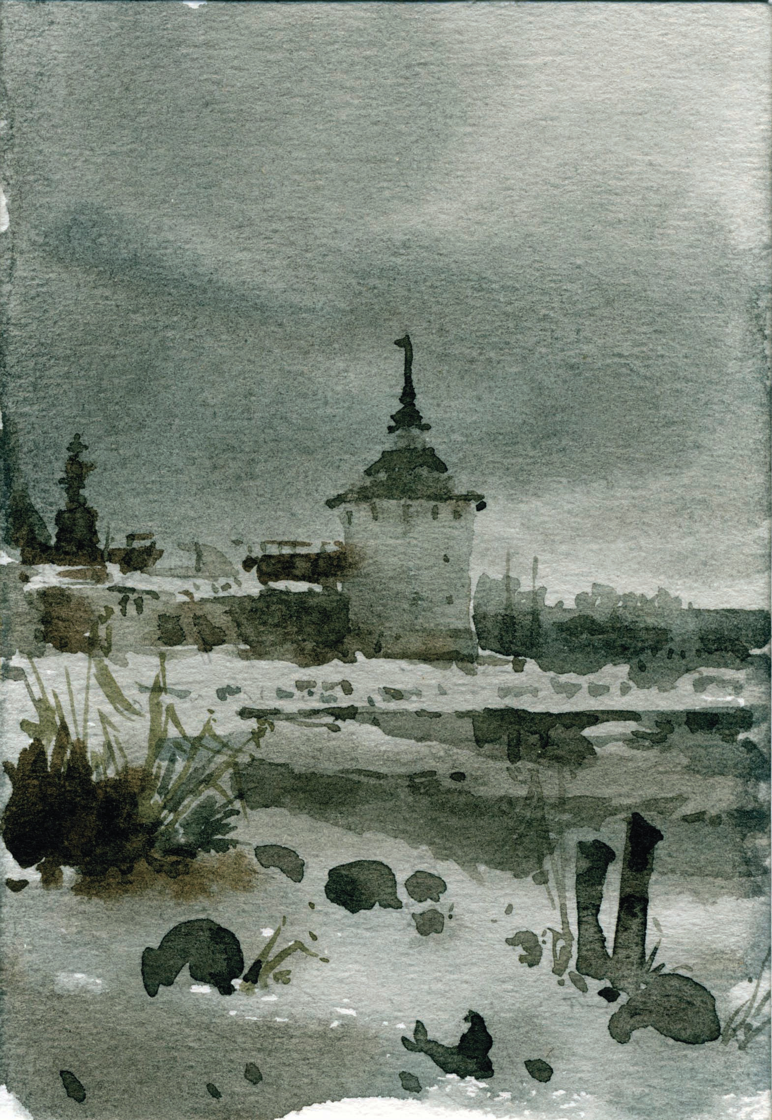 Храмы 65 (Акварель/Watercolor)
