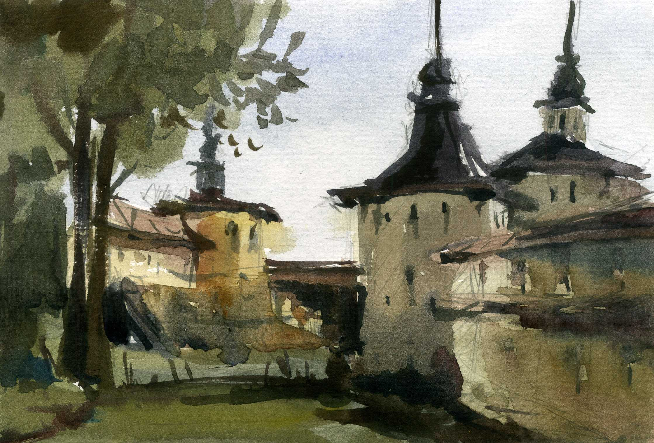 Храмы 31 (Акварель/Watercolor)