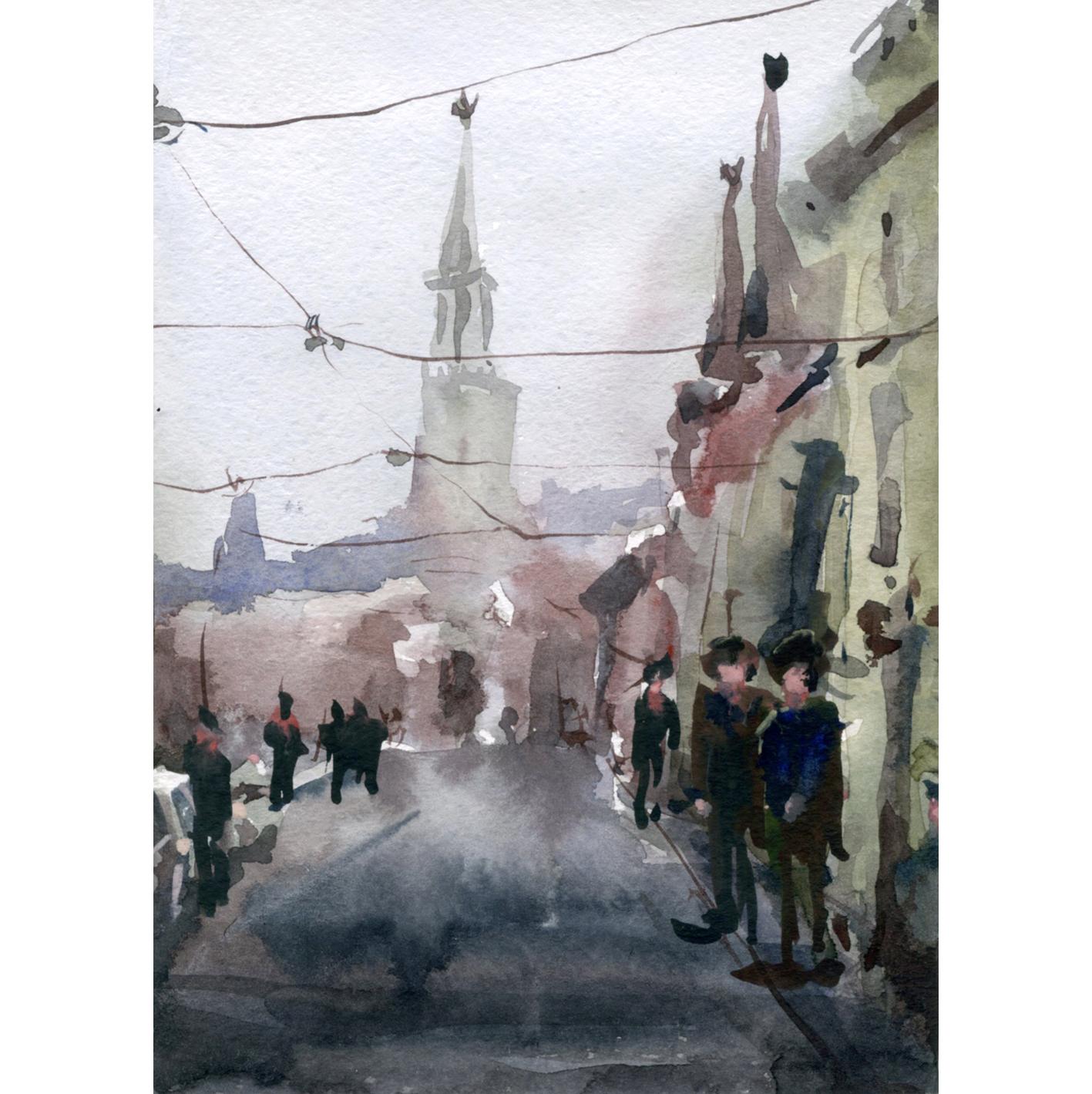 Город 32 (Акварель/Watercolor)